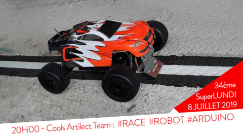 SPL34 : 20H00 – Cools Artilect Team – #Course #Robot #Arduino